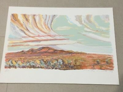 "Wall Art MANDY MARTIN ""KOONENBERRY RANGES"" Limited Edition Screenprint 7/225"