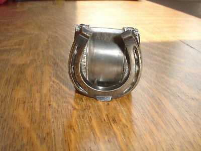 Antique Silver Plate Lucky Horseshoe Figural Napkin Ring Holder Ornate Pattern