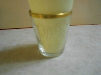 Pre-Pro Shot Glass PARKER RYE.  FOUNDED 1893 ~ Thin Wall Gold Rim-L@@K