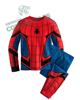 Disney Store SPIDERMAN COSTUME PJ PALS FOR BOYS Homecoming Pajamas Set COSPLAY