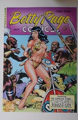 "Dave Stevens Print Betty Page Comics Cover #1 ""The Captive"""
