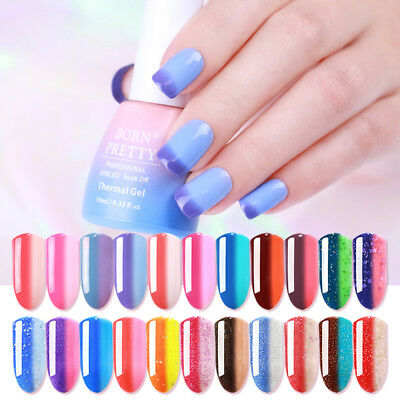 10ml Born Pretty Thermal Soak Off UV Gel Polish Glitter Color Changing Nails Gel