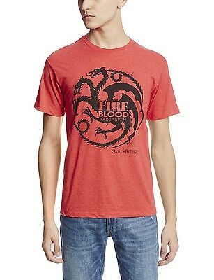 """Game Of Thrones TARGARYEN SIGIL FIRE AND BLOOD """"DRAGON"""" T-Shirt NWT Licensed"""