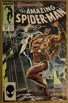 The Amazing Spider-Man #293. Signed by Mike Zeck and Bob McLeod