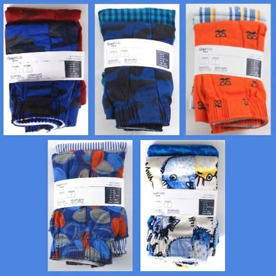 NWT Boys GAP Kids 2 Pack Boxers Choose Size and Pattern