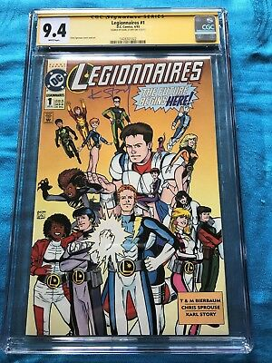 Legionnaires #1 - DC - CGC SS 9.4 NM - Signed by Karl Story