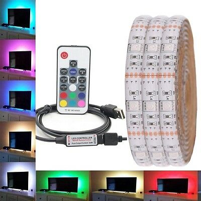 Hot 5M 5050 RGB LED Strip Waterproof  USB LED Light Strips Flexible Tape DC 5V
