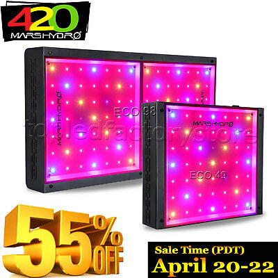 Mars Eco LED Grow Light Full Spectrum Hydro Veg Bloom Plants with On/Off Switch