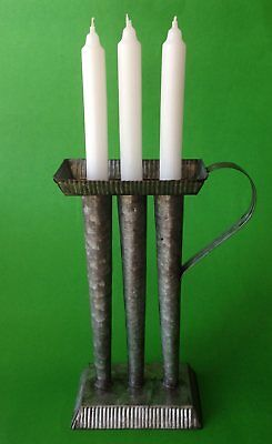 Primitive Candle Mold Candle Holder - Reproduction - Primitive / Country Decor