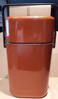 vintage 1980s DECOR INSULATED BYO WINE COOLER  Rust Colour : new old stock