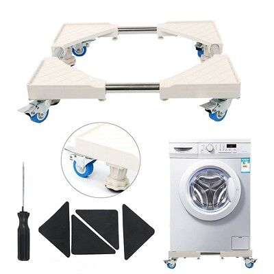 Adjustable Furniture Dolly Roller Movable Base Washer,Dryer - 4 Pulley+4 Lifting