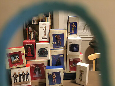 Star Wars Hallmark Ornaments LOT - New and Pre-Owned with Original Packaging