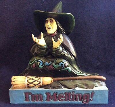 "JIM SHORE WiZARD OF OZ  2007 "" I'm Melting"" Wicked Witch NIB"