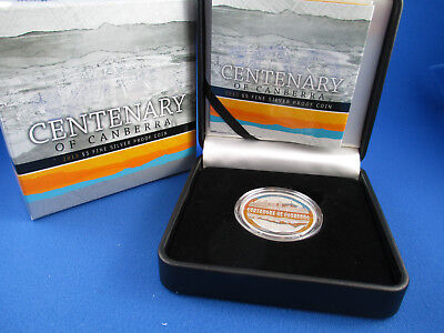 2013 $5 CENTENARY OF CANBERRA Silver Proof Coin. COMPLETE . SUPERB!!!