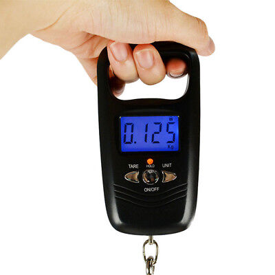 Pocket Portable Mini 50kg/5g LCD Digital Fish Hanging Luggage Weight Hook Scale