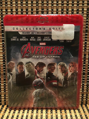 Avengers 2: Age Of Ultron 3D (2-Disc Blu-ray, 2015)Marvel/Thor/Iron Man/Hulk