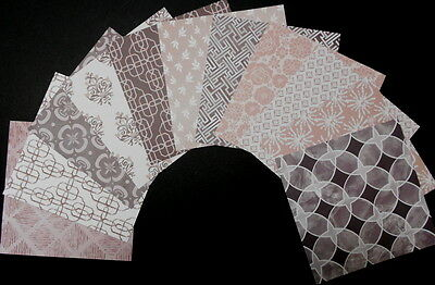 "CLASSIC NEUTRALS Beautiful Papers x 11 - 15cm x 15cm (6""x 6"") Scrapbooking/Cards"