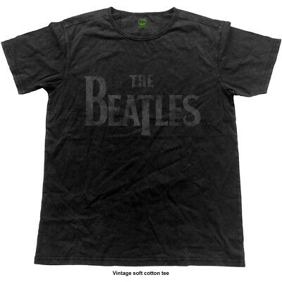 The Beatles Men's Fashion Tee: Logo (Vintage Finish) (X-Large)