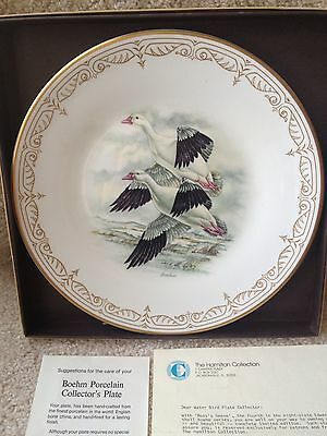 "Bird Sportsman Wall Hanging Cabin Wall Accent E. M. Boehm ""Ross Geese"" Plate MIB"