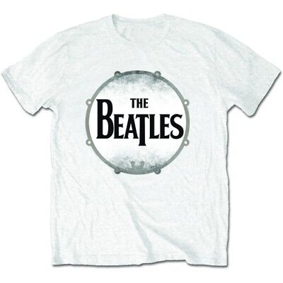 New  The Beatles Men's Premium Tee: Drum Skin (Medium) Medium White