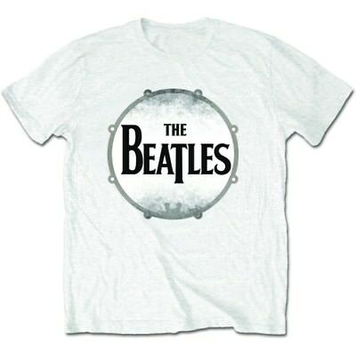 New  The Beatles Men's Premium Tee: Drum Skin (Large) Large White