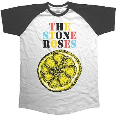 The Stone Roses Men's Raglan Tee: Lemon Multicolour (Small)