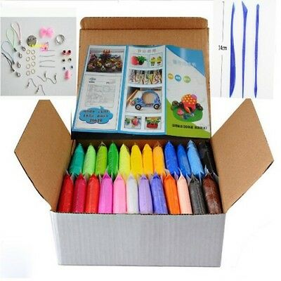 24colors Soft Polymer Modelling Clay Tool 24pcs Set Diy Plasticine Playdough Toy