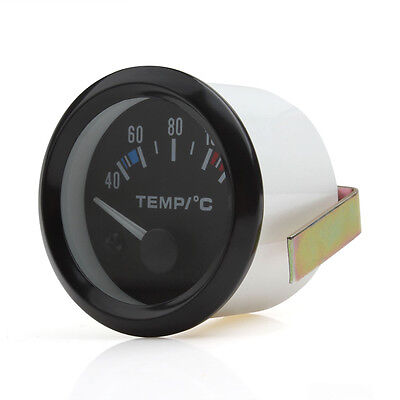 2 Inch 52mm Car Pointer Water Temperature Gauge 40 - 120 Celsius White LED DC12V