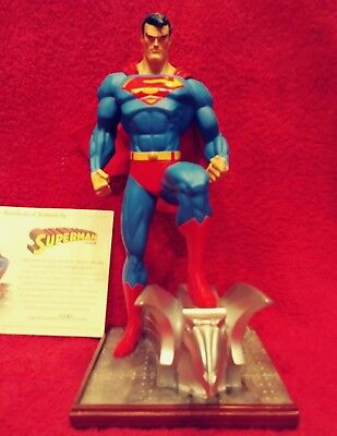 2004 Dc Direct Full-Size Superman Jim Lee Cold Cast Porcelain Statue Mib