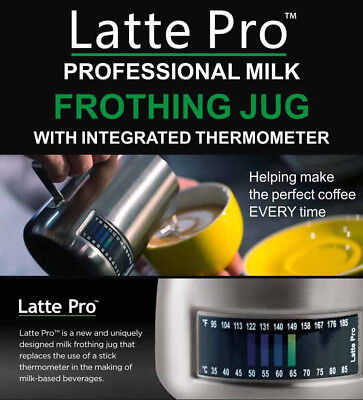 With Integrated Thermometer Latte Stainless Steel Pro Milk Frothing Pitcher Jug