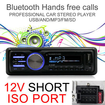 Bluetooth 1DIN Car Auto Radio Stereo MP3/USB/SD/AUX-IN FM Radio Player Amplifier