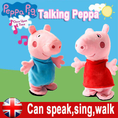 Peppa Pig Talking Princess Soft Toy with Sound Plush Toy Figures Kids Xmas Gift