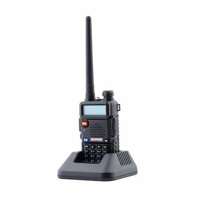 BAOFENG UV-5R Black Dual Band 136-174/400-480Mhz FM Walkie Talkie 2-Way Radio UK