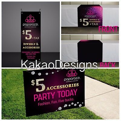 Paparazzi - Vendor Show Set - Printed -Banner, Yard Sign and Table runner