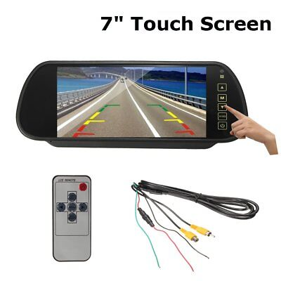 7 Inch TFT LCD Wide Screen Rearview Mirror Monitor Set For Car Reverse Parking