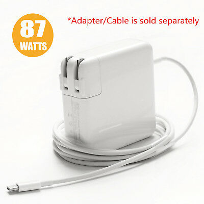 "87W USB-C Power Adapter 2M USB C 3.1 Charge Cable for Apple Macbook Pro 15"" 2017"