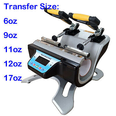 Double Station Mug Heat Press Machine For 10OZ 11OZ 15OZ 17OZ Cup Sublimation US