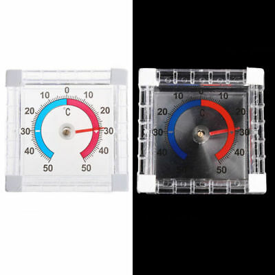 Indoor Outdoor Window Wall Greenhouse Garden Home Office Temperature Thermometer