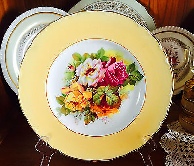 Vintage A J Wilkinson Royal Staffordshire Pottery Roses Display Plate C1947+