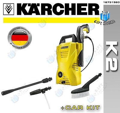 Karcher K2 + Kit Pressure Washer with Car Wash Accessories **NEW FREE DELIVERY**
