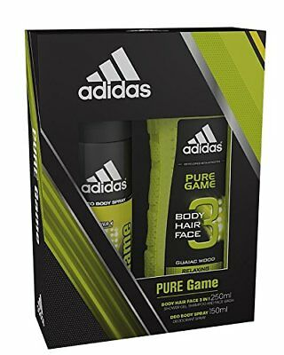 Adidas Pure Game Body Spray and Shower Gel Duo Gift Set Present NEW