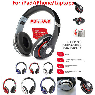 Bluetooth v4.2 Hi-Fi Stereo Sound Wireless Headphone Headset For iPad Air Mini X