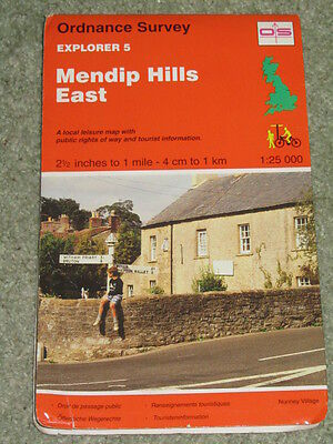 OS Ordnance Survey Explorer 1:25,000 sheet 5 Mendip Hills East