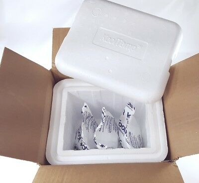 """KoolTemp Insulated Container 11.25"""" X 9.25"""" x 10"""" + Outer Box & 3 freezer packs"""