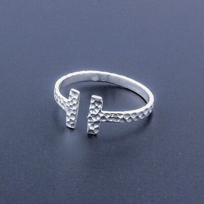 T Silver Ring