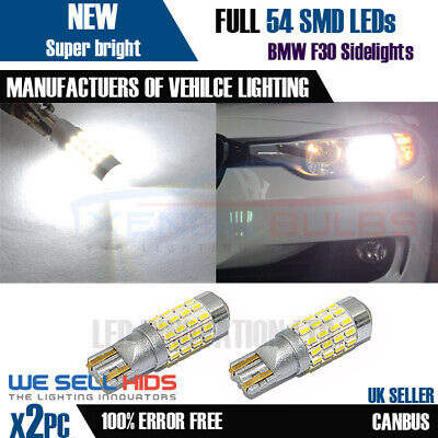 Xenon Bright White T10 W5W LED 54 3014SMD 194 501 Canbus ERROR FREE SMD lights