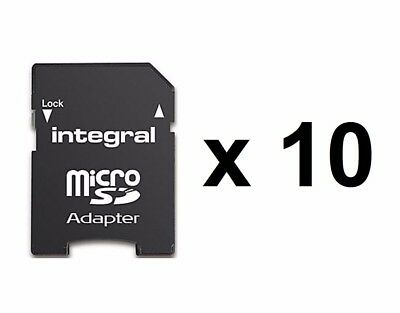 10 x Premium Quality Genuine Integral Micro SD to SD / SDHC Memory Card Adapters