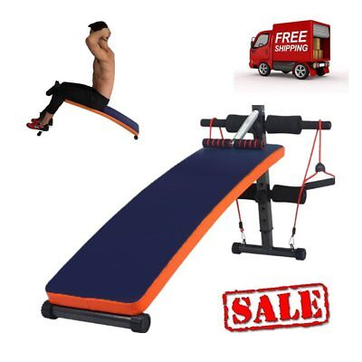 Foldable Sit Up Bench Abdominal Ab Crunch Home Gym Curved Board 120kg Maxload UK