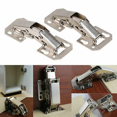 2x 90 Degree Concealed Sprung Door Hinges Kitchen Cabinet Cupboard Soft Close