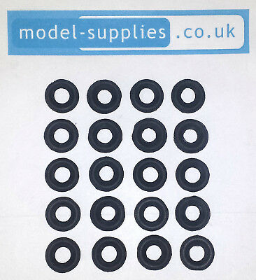 Dinky 15mm Black Fine Treaded Reproduction Tyres fits 30 & 39 Series, 151 etc